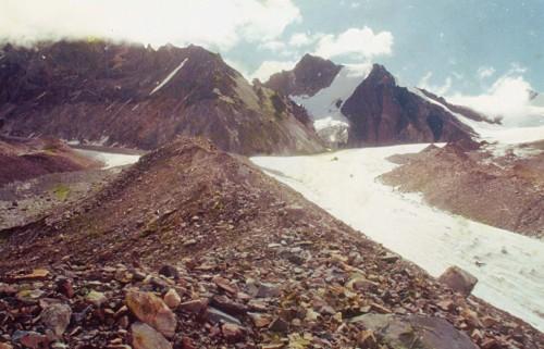 Confluence of Kalindi, Sweta & Chaturangi glaciers
